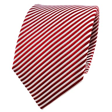tie white striped Red and