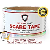 SPECIAL OFFER - BEST Bird Repellent Scare Tape + FREE BONUS - Repels Birds & Daytime Predators - Huge 150 Ft. Roll