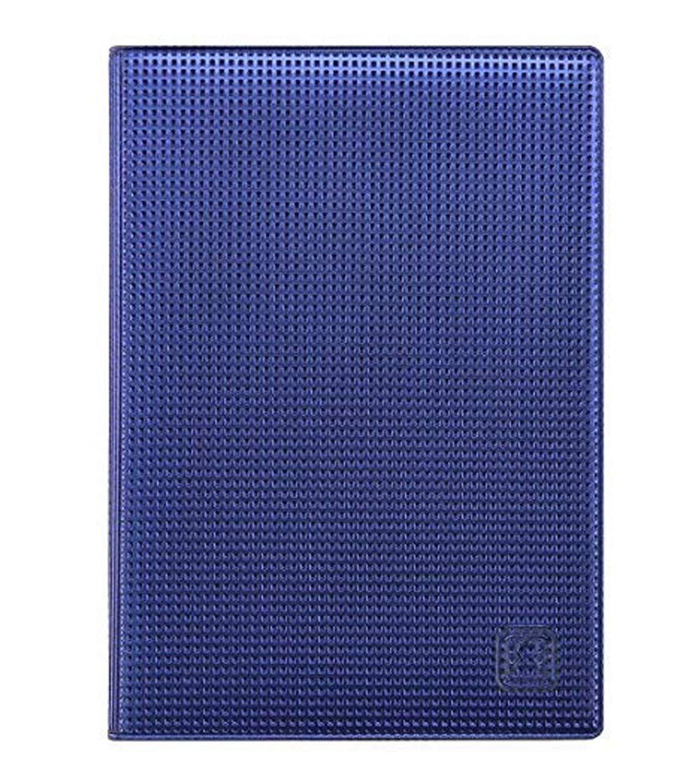 OPTEXX® RFID Reisepass-Hülle TÜV geprüft & zerifiziert | Blue Grid | Ausweis-hülle | Schutzhülle | Schutz-Etui | Pass-hülle | aus PVC sicheres Blocking Passport