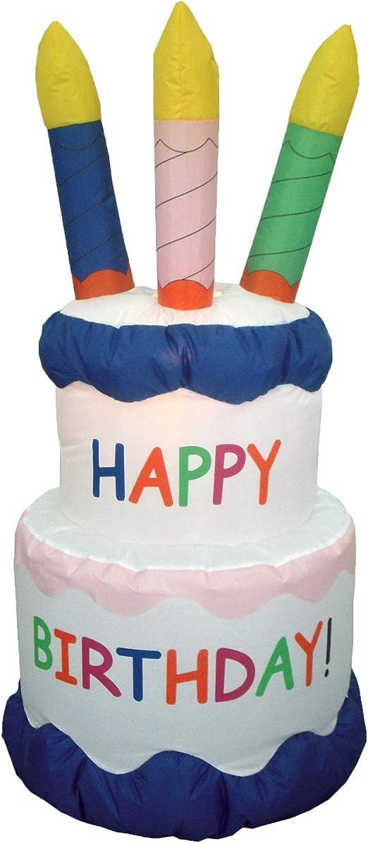 Surprising 6 Foot Inflatable Happy Birthday Cake Yard Decoration Amazon Ca Funny Birthday Cards Online Unhofree Goldxyz