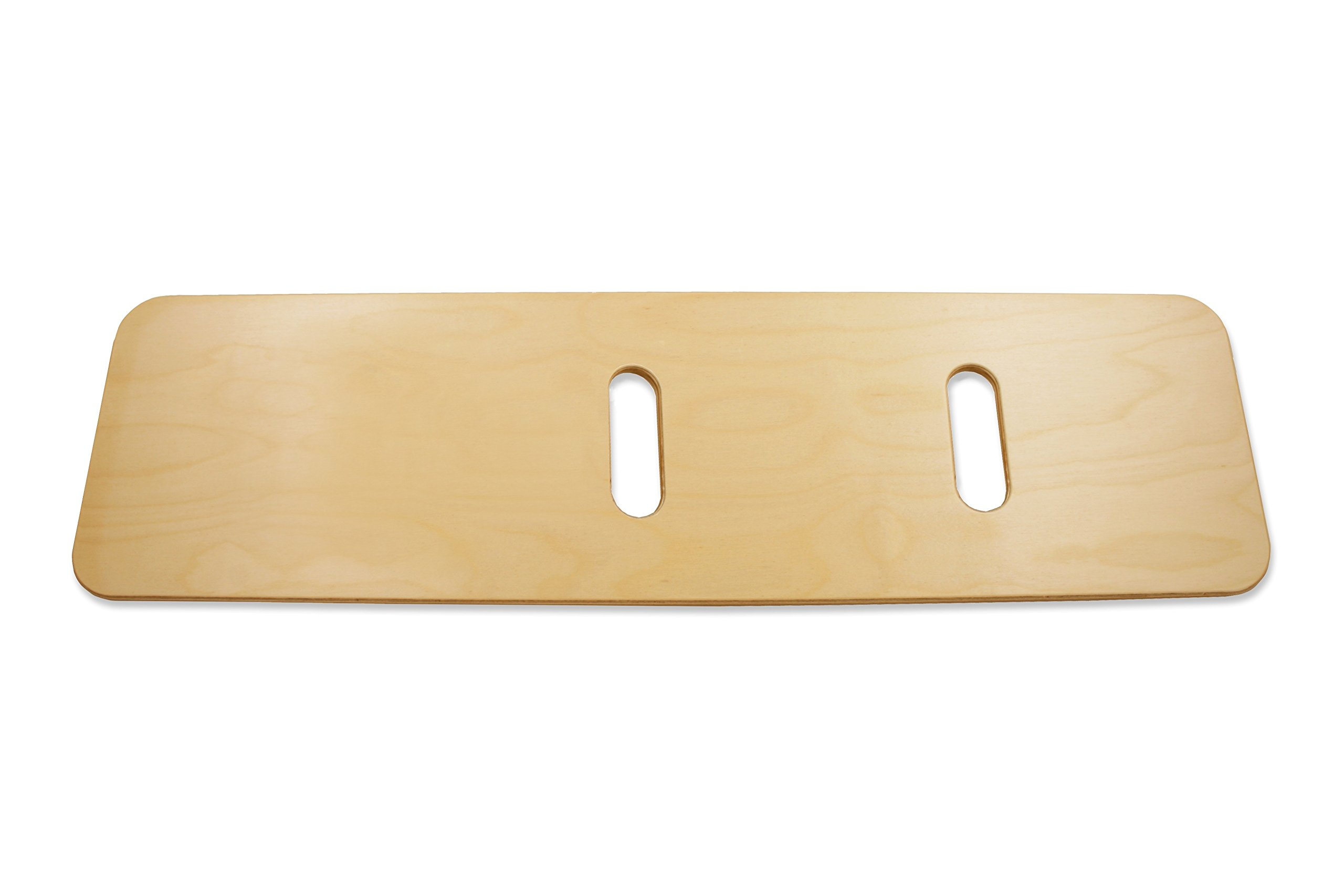 "Rehabilitation Advantage Extra Long Durable Bariatric Birch Wood Transfer Board 11/16"" Thick x 40"" Long with 2 Hand Holes"