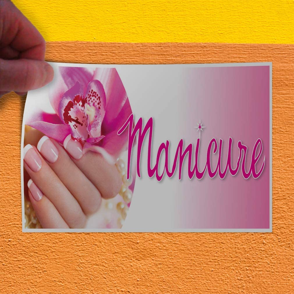 Set of 2 52inx34in Decal Sticker Multiple Sizes Manicure Business Style T Business Manicure Outdoor Store Sign White