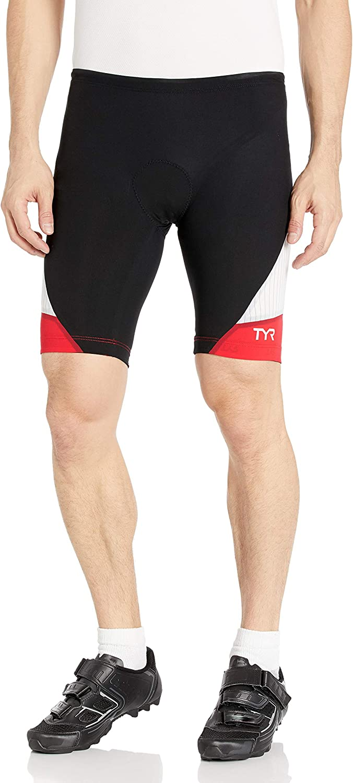 TYR Sport RMNB6A-002-L Mens Carbon 9-Inch Tri Compression Shorts