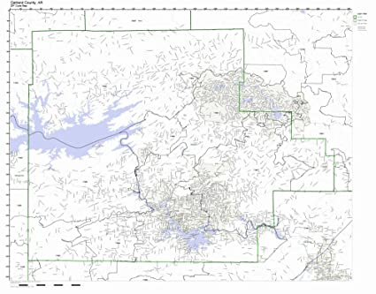 Zip Code Map Arkansas.Amazon Com Garland County Arkansas Ar Zip Code Map Not Laminated