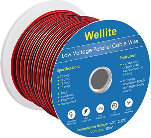 12-2 AWG Gauge Electrical Wire Low Voltage for Landscape Lighting System