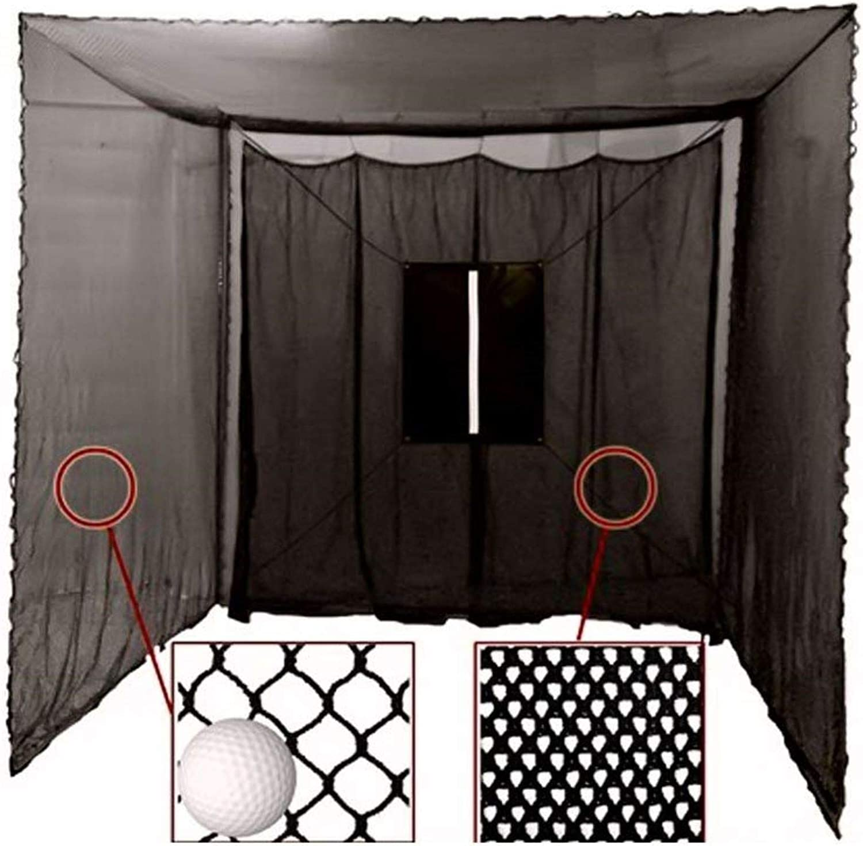 Cimarron Sports 10x10x10 Masters Golf UV Treated Net and Archery Netting Baffle with Golf Net Target