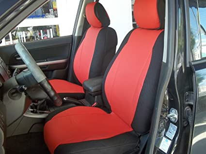 Charcoal//Black Sides topcar-athens Mix Leatherette and Synthetic Custom Fit Front Car Seat Covers Fits on Volvo S40 V40 S60 S70 V70 S80 Models Until 2014 Seats