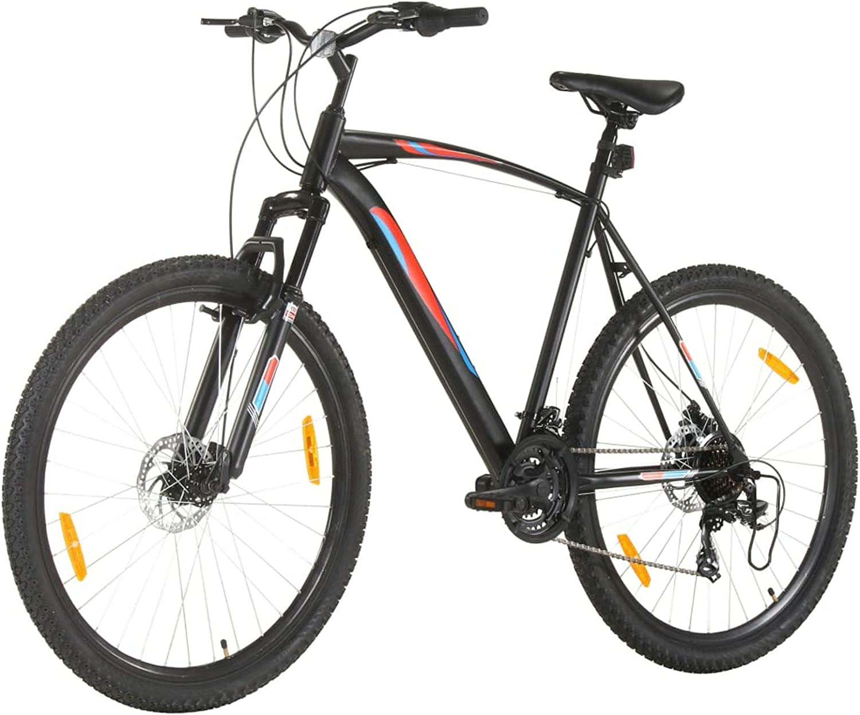 Tidyard Bicicleta de Montaña 21 Velocidades 29 Pulgadas Rueda 58 cm Bicicleta Montaña para Adulto Negro