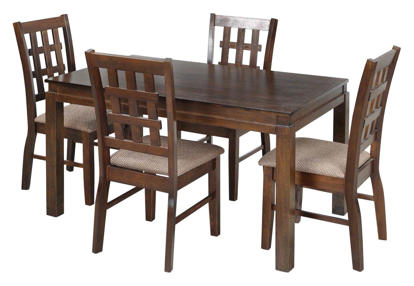 Royaloak daisy four seater dining table set walnut amazon in home kitchen