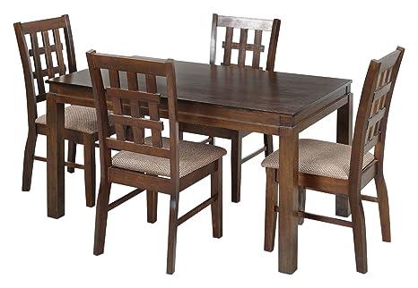 Royaloak Daisy Four Seater Dining Table Set Walnut Amazon In