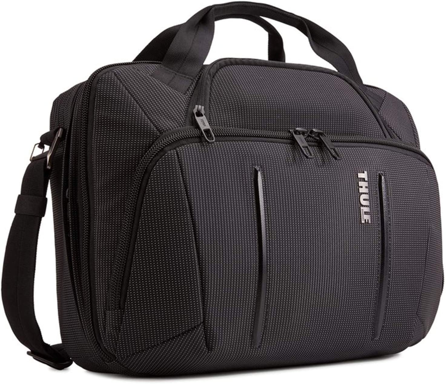 "Thule Crossover 2 Laptop Bag 15.6"", Black, 17.3 x 5.9 x 12.6 in"