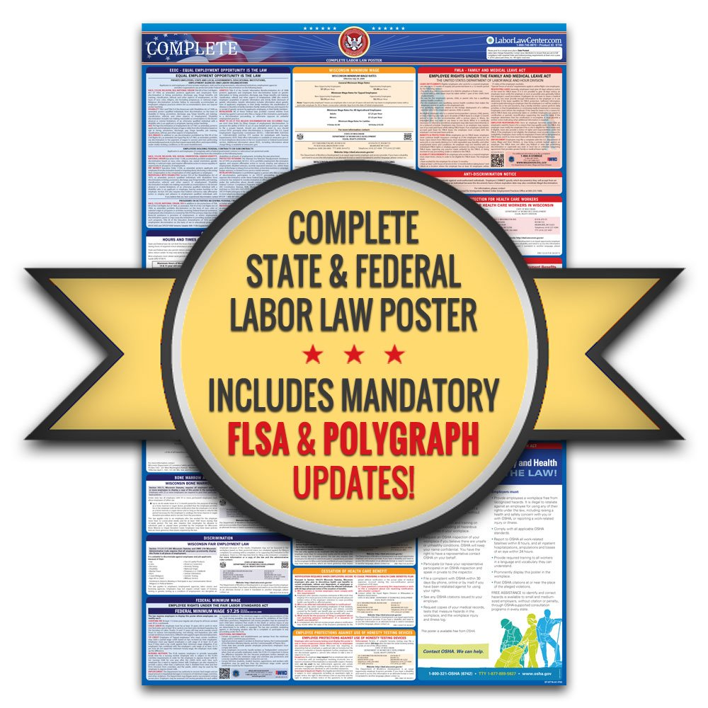 Amazon 2018 michigan labor law poster state federal amazon 2018 michigan labor law poster state federal compliant laminated prints office products sciox Choice Image
