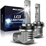 SEALIGHT S2 H11/H8/H9 LED Headlight Bulbs,1:1 Halogen Exact Fit Design, 15000 Lumens Low Beam 100% Clearly Night Driving Visi