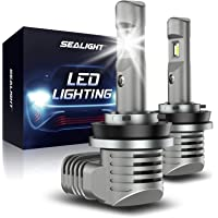 SEALIGHT S2 H11/H8/H9 LED Headlight Bulbs,1:1 Halogen Exact Fit Design, 15000 Lumens Low Beam 100% Clearly Night Driving…