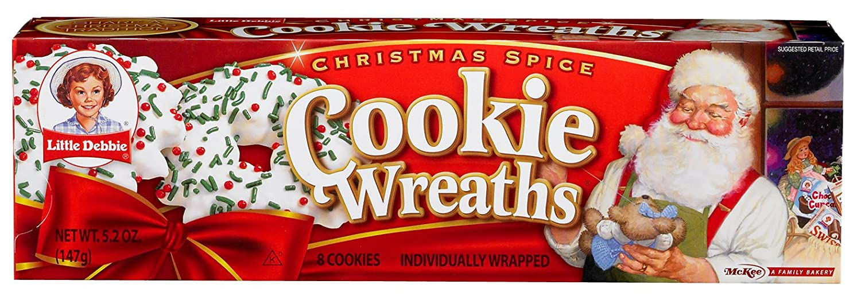Amazon Com Little Debbie Christmas Spice Cookie Wreaths Box Of 8