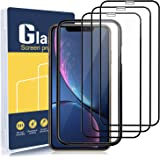 """Excgood Screen Protector for iPhone XR and iPhone 11 (6.1""""), Full Coverage Tempered Glass Film Edge to Edge Protection, with"""
