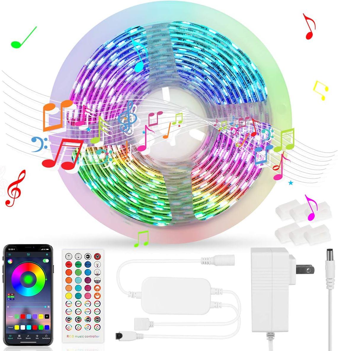 Oaso 16.4-Ft. LED RGB Color Changing Strip Lights Deals