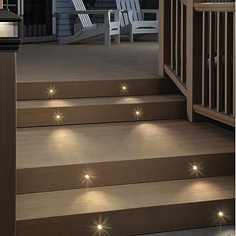 Deckorators Recessed Stair Lighting Kit With Shade   8 Pack (Deckorators  158446)