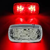 "Partsam 1pcs 4""x2"" Red LED Marker Turn Stop Truck Trailer Motorcycle ORV Golf Cart Light"