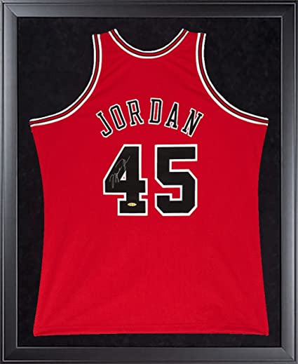 7216d46abfe MICHAEL JORDAN Signed Bulls Mitchell   Ness 45 Authentic 1995 Framed Jersey  UDA at Amazon s Sports Collectibles Store