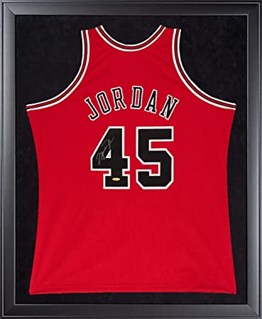 f620b3737abc4b ... MICHAEL JORDAN Signed Bulls Mitchell Ness 45 Authentic 1995 Framed  Jersey UDA ...