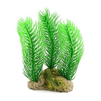 sourcing map Ornamento Paisaje de la decoración DE 5,9 Pulgadas de Alta Acuario de plástico Verde Planta del árbol: Amazon.es: Productos para mascotas