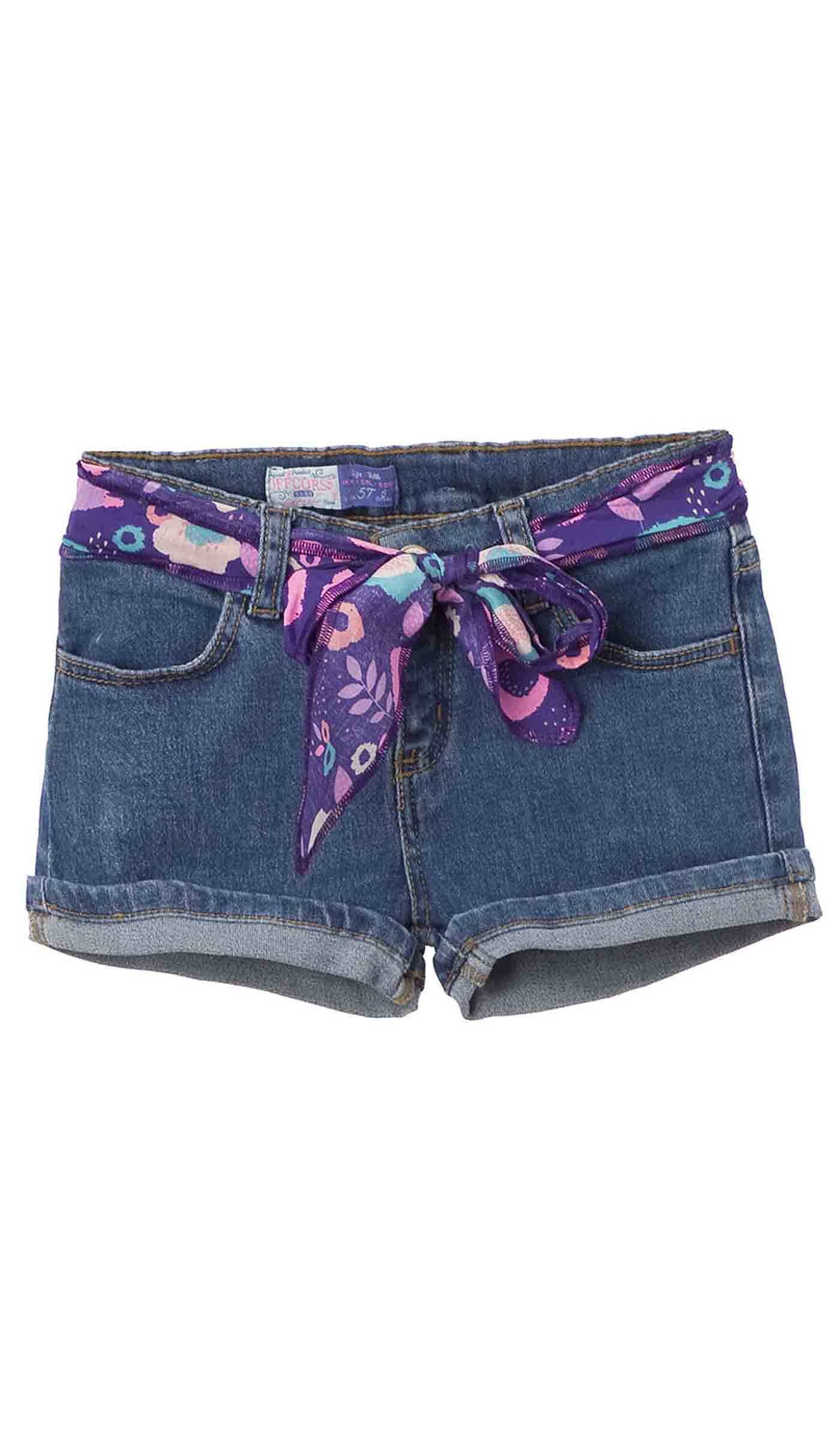 OFFCORSS Toddler Baby Girl Kid Prime Cute Stretchy Slim Loose Denim Jeans Colored Play Shorts for Summer Ropa Casual de Niña para Verano Blue 2T
