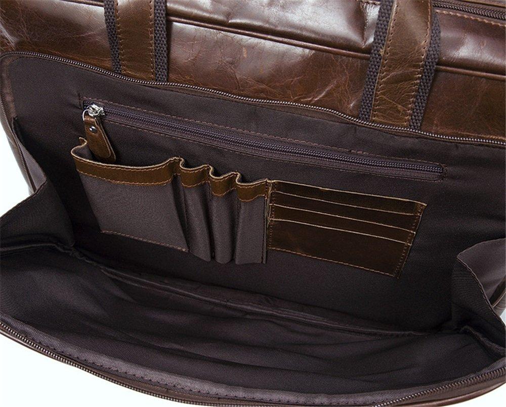 42 31 14cm Business Briefcase LBYMYB Mens Bag Retro Solid Color Mens Shoulder Bag File Bag Men Brown