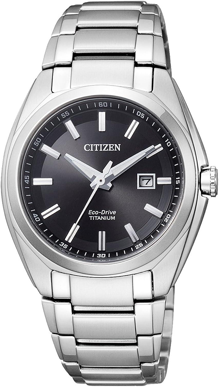 Citizen Reloj Analógico para Mujer de Cuarzo con Correa en Titanio EW2210-53E