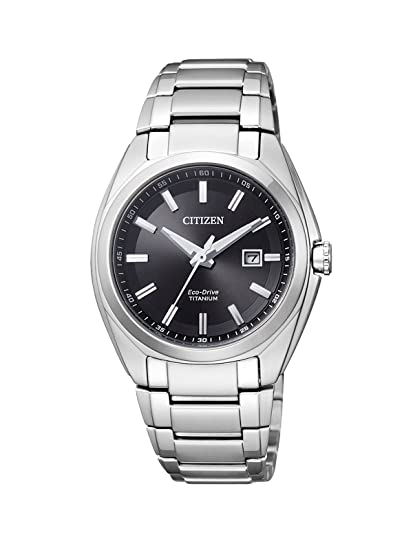 Citizen Super Titanium EW2210-53E - Reloj analógico de cuarzo para mujer, correa de titanio color plateado: Amazon.es: Relojes
