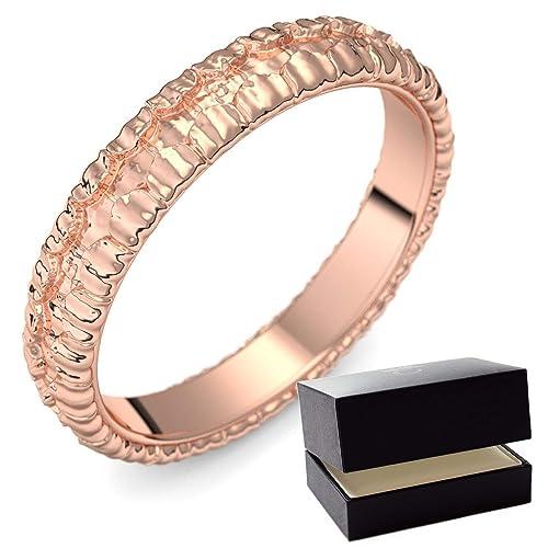 Rojo Oro alianzas de matrimonio Ring/Anillo 750 + Incluye Luxus Funda + Libre de