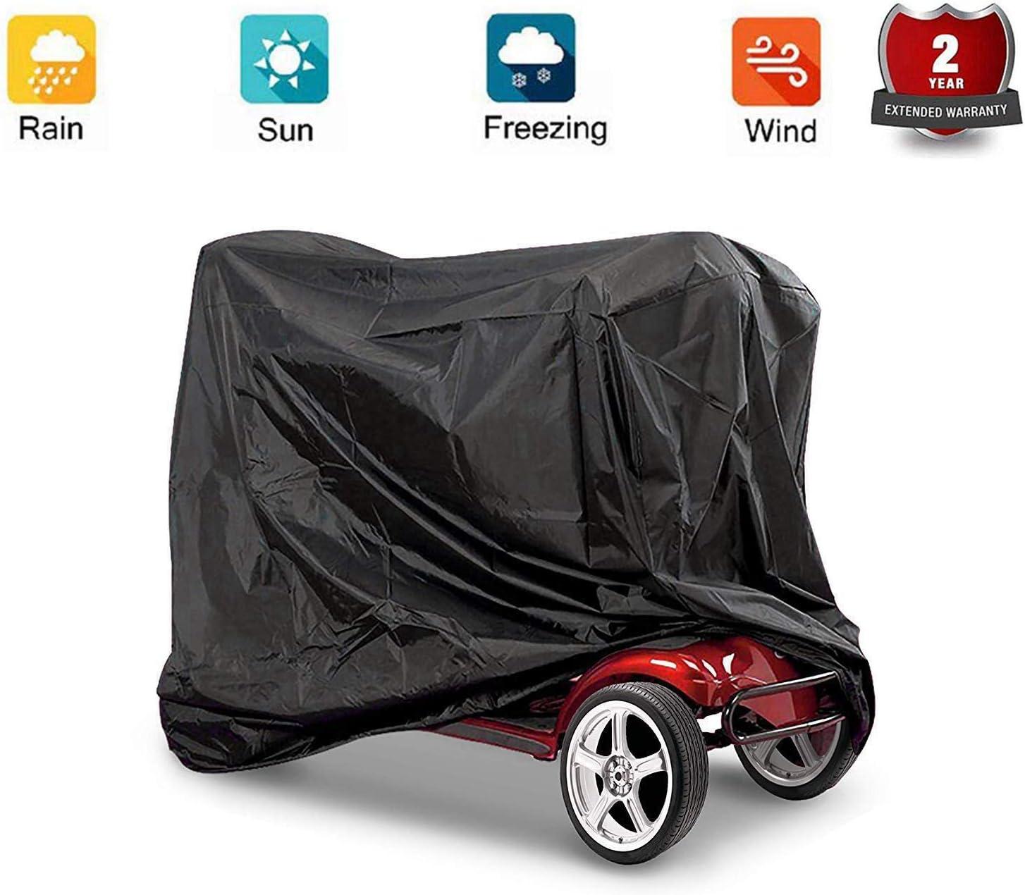 Cubierta de scooter, cubierta de almacenamiento de scooter profesional Eldly Mobility Silla de ruedas Impermeable Protección contra la lluvia para proteger su Scooter