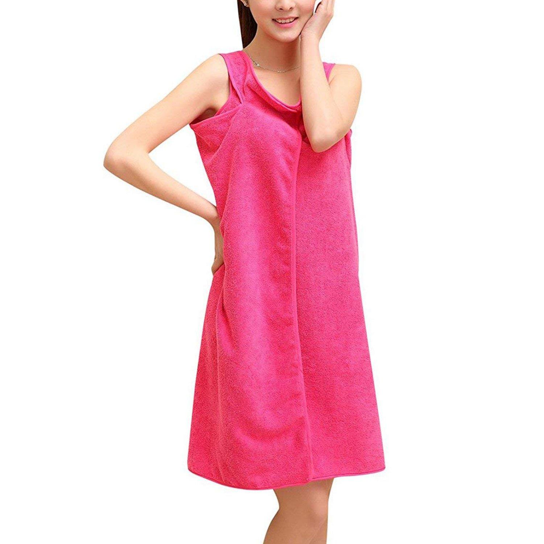 Amazon.com: Adjustable Luxurious Plush Shower Spa Bath Body Towel Wrap: Home & Kitchen