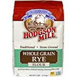 Hodgson Mill Whole Grain Rye Flour 5-Pound Sacks (Pack of 6), Traditional Stone-Ground Whole Grain Rye Flour, for Rye or Pumpernickel Bread
