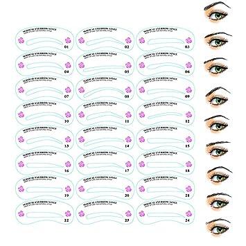 Amazon.com : Eyebrows Stencil Kit Eye Brow Shaper Template Set ...