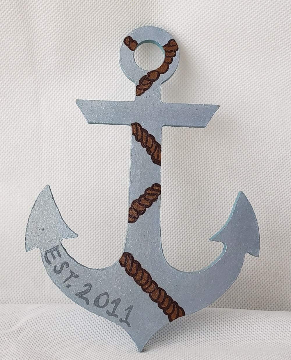 Anchor with Initial  Door Wooden Unfinished Anchor Front Door Hanger Fast Shipping