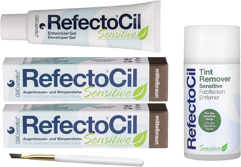 refectocil Sensitive Set Cejas/pestañas Producto 2 x mittelbraun – Explorador & farbflec kenent Ferner