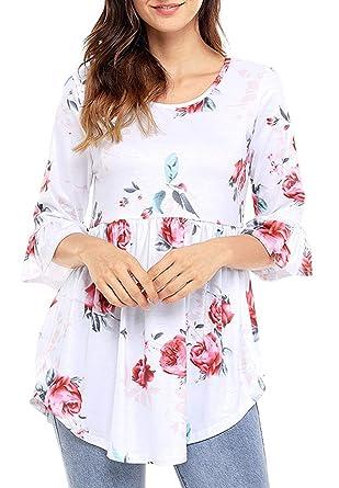 Summer Ladies Blusa Casual Loose tee Tops Impresas Elegant Shirts ...