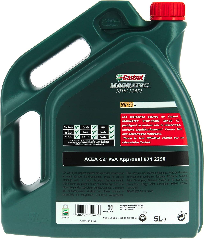 Castrol Magnatec 5w 30 C2 Stop Start Motor Oil Engine Oil 5l Auto