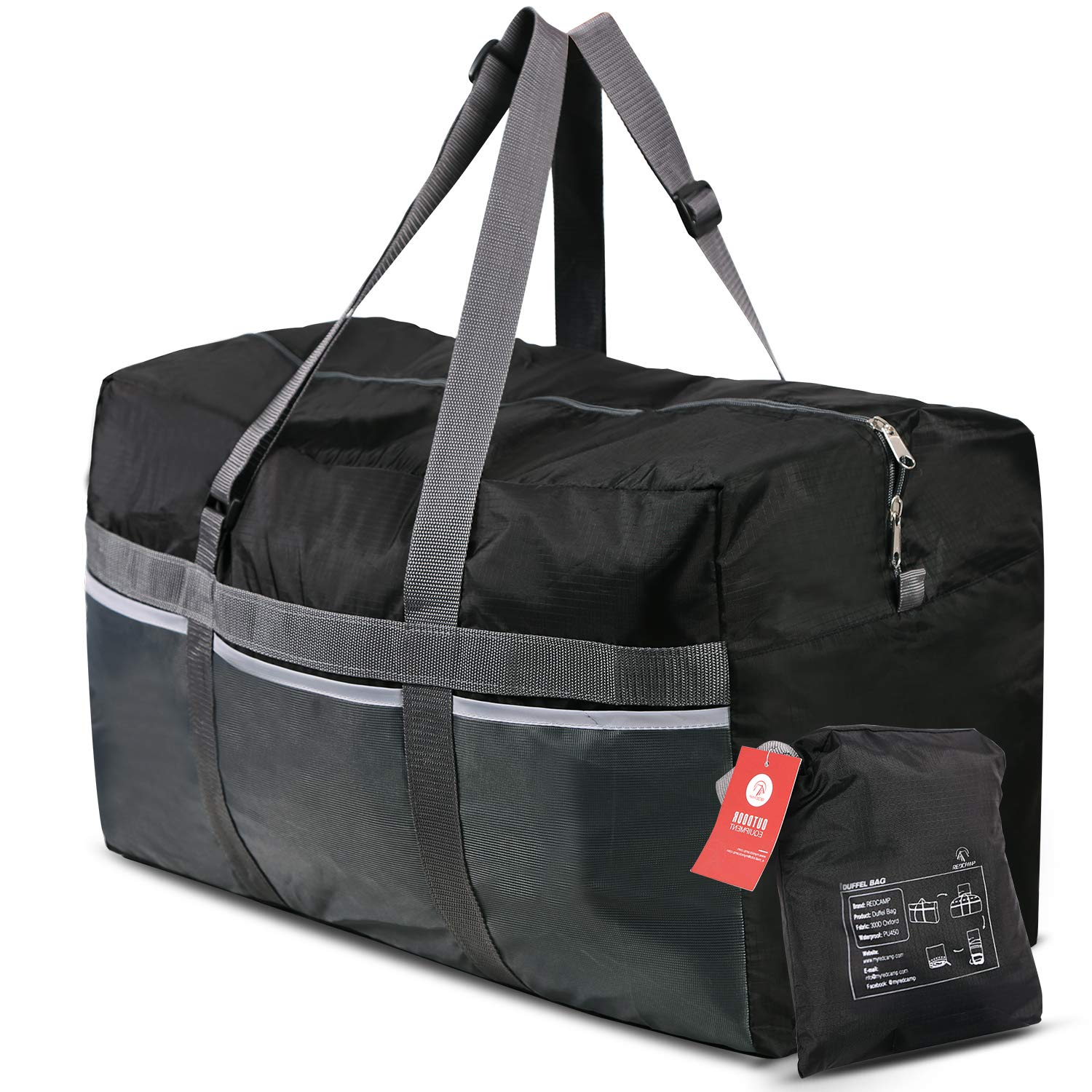 9a355fc1a5e6 REDCAMP 75L Foldable Duffel Bag Large Size Lightweight & Multifunction, 25