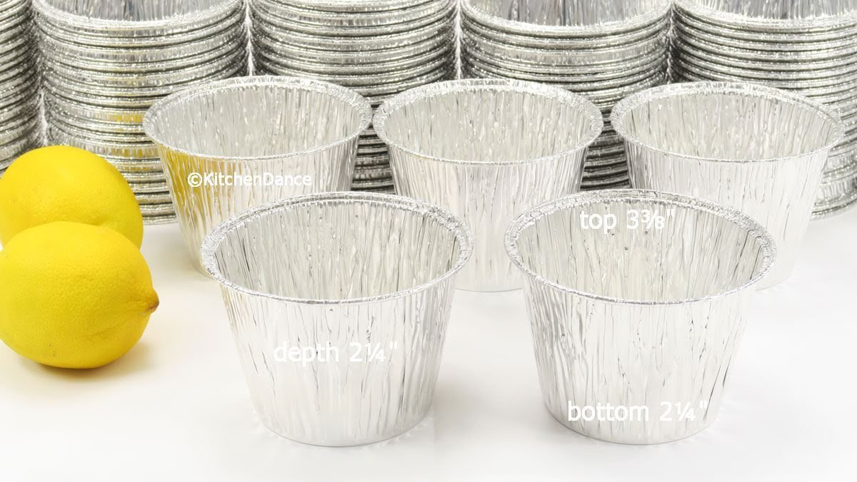 Disposable Aluminum 7 oz. Baking Cups/Cake Cups/Dessert Cups #1210NL (No lids) (100)