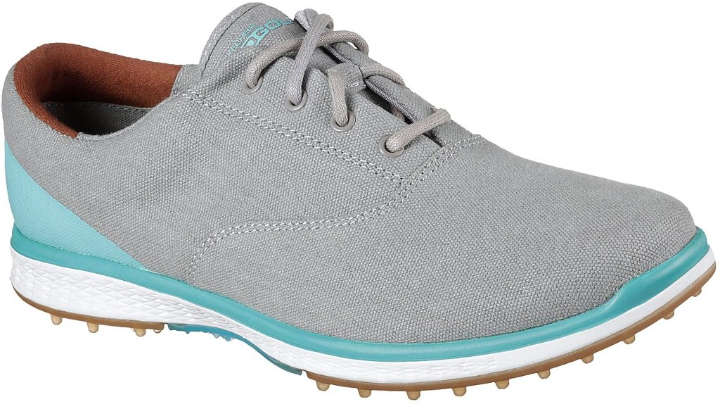 Skechers Women's Go Golf Elite Canvas Golf Shoe,Charcoal,9.5 M US