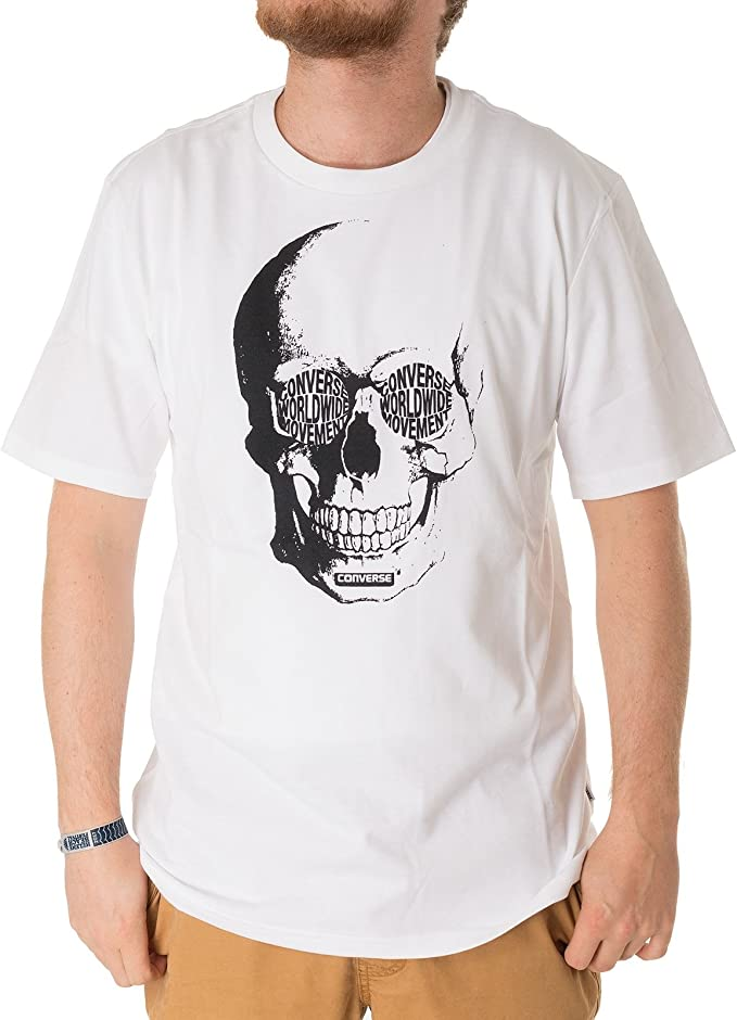 T Shirt Converse Skull TEE Größe: S Farbe: 102op.wht: Amazon