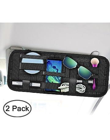 4322d51dd7 SourceTon - Organizador para el parasol del coche, para almacenamiento,  antideslizante, tejido elástico