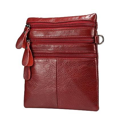 Amazon.com: piel Hombro Messenger Bag, Rosa Schleife ...