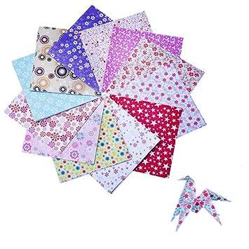 72x Toruiwa Papier Origami Dessin Fleur Pour Création De Projets