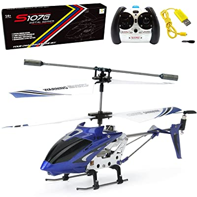 Cheerwing S107/S107G Phantom 3CH 3.5 Channel Mini RC Helicopter with Gyro Blue: Toys & Games