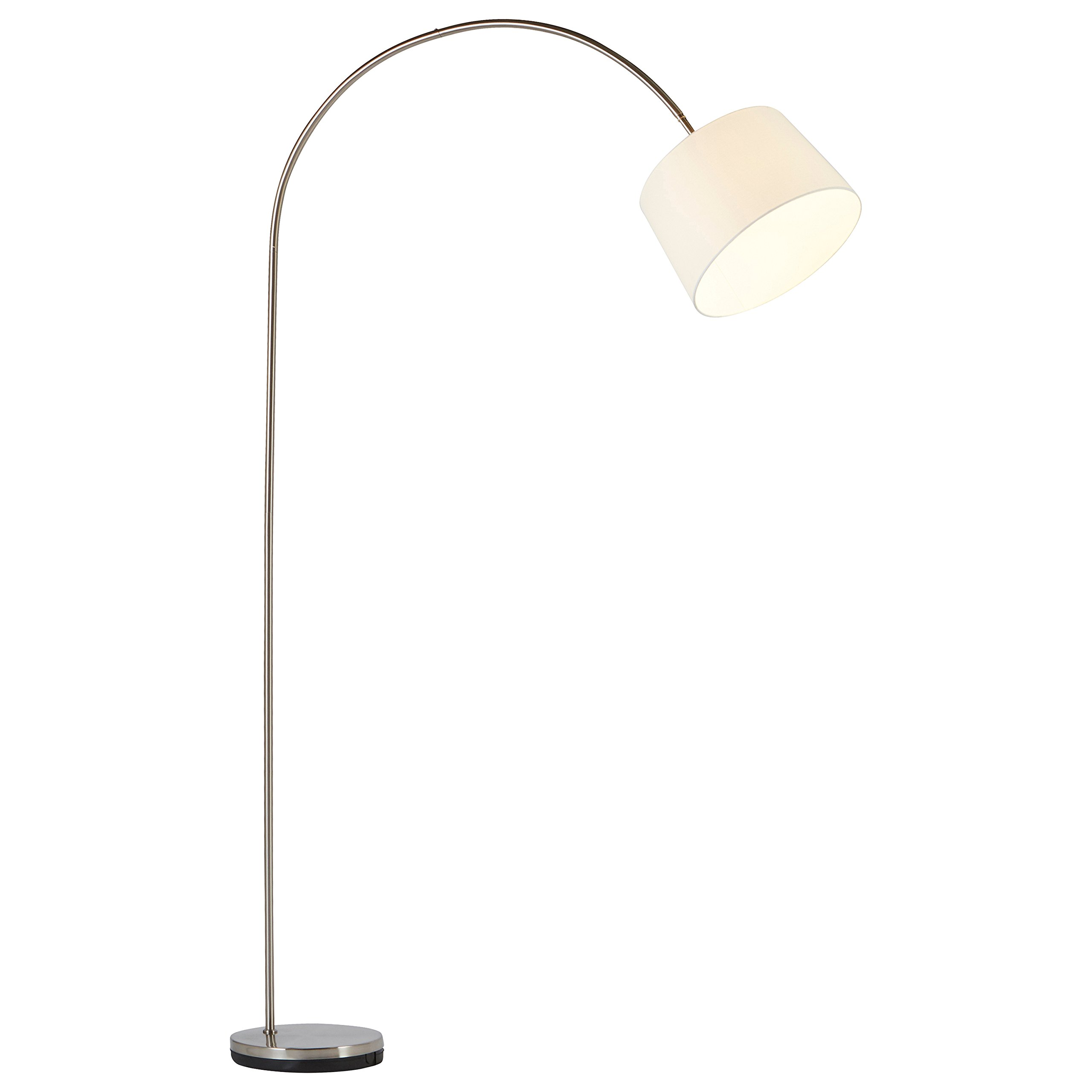 Stone & Beam Lily Modern Arc Floor Lamp, 83''H, With Bulb, White Shade by Stone & Beam