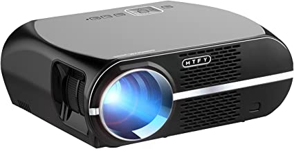 GP100 Video Projector,MTFY 3500 Lumens Portable LCD 1080P HD LED Projector,Home Theater Projector for Movie,TV,Photos,Games,DVD,PC,Laptop Support ...