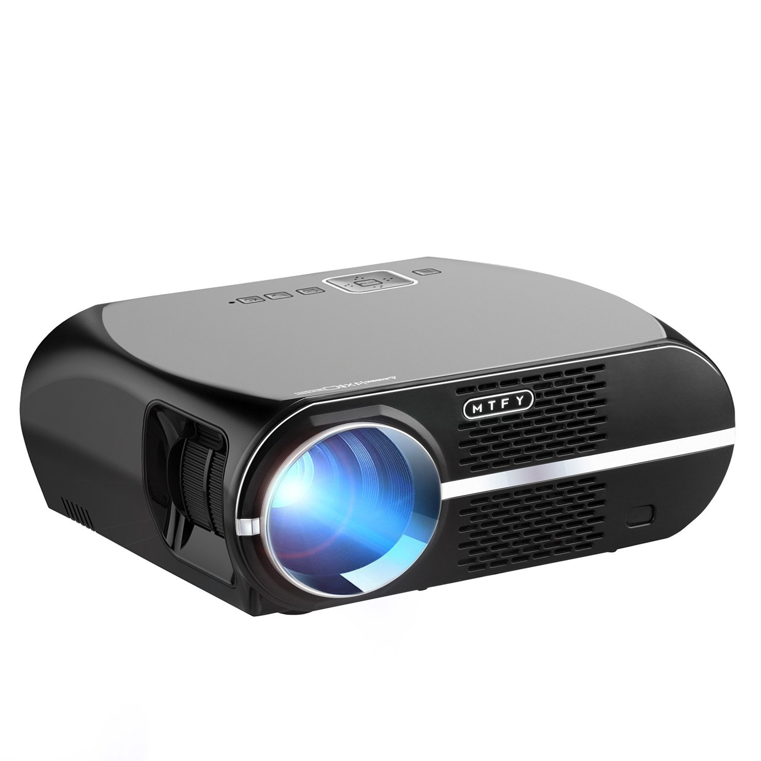 GP100 Video Projector,MTFY 3500 Lumens Portable LCD 1080P HD LED  Projector,Home Theater Projector for Movie,TV,Photos,Games,DVD,PC,Laptop  Support